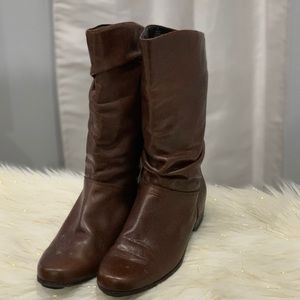 St. John's Bay brown leather boots size 7M